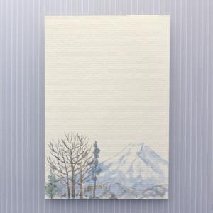 季節のはがき 冬 冬の富士(ネコポス可)|on-washi