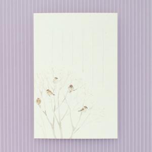 季節のはがき 冬 ふくら雀(ネコポス可)|on-washi