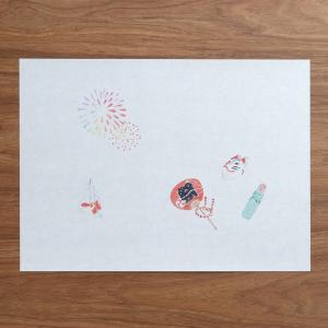 夏祭りランチョンマット 5枚入|on-washi