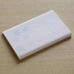 茶道具 かいし おしゃれ 和紙  懐紙 雪の結晶 30枚入 ネコポス可
