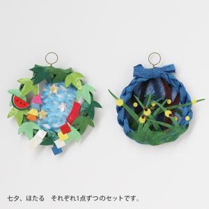 ミニリース 七夕・ホタル(ネコポス可)|on-washi