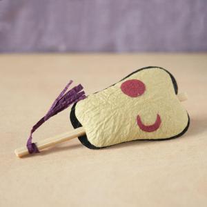 置き飾り かわいい 和紙 インテリア ミニチュア めでたや遊び 軍配|on-washi