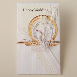 祝儀袋 結婚 ウェディング祝儀袋 水引 鶴と和 W8(ネコポス可)|on-washi