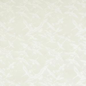 色鳥の子紙 シルク印刷 つる 白×パール(307-イ) on-washi