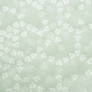 色鳥の子紙 シルク印刷 葉 うす緑×パール(310-ロ) on-washi