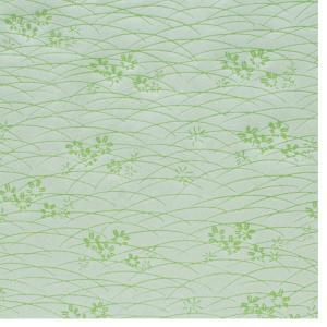 色鳥の子紙 シルク印刷 草 黄緑×パール(312-イ) on-washi