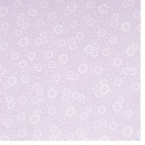 色鳥の子紙 シルク印刷 菊 うすむらさき×パール(321-ロ) on-washi