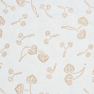 色鳥の子紙 シルク印刷 葵 白×金(314-ロ) on-washi