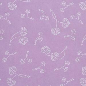 色鳥の子紙 シルク印刷 葵 紫×パール(314-ハ) on-washi