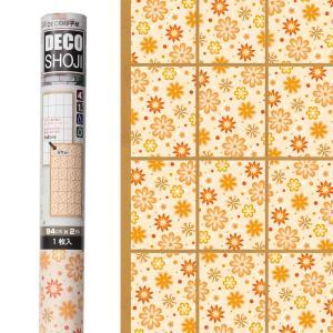 ボタニカル柄の障子紙です。 強度が4倍(当社比)の破れにくい障子紙に、花模様を印刷しています。 和洋...