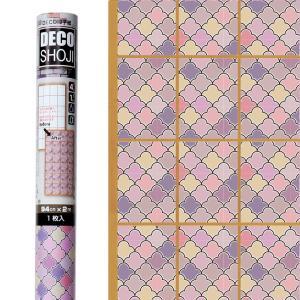 障子紙 オシャレ DECO障子紙 アラビアン(ピンク)フリーサイズ・1枚貼り用(ARB-01) on-washi
