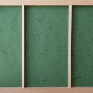 障子紙 おしゃれ インテリア障子紙 カラー和紙 深緑 大直|on-washi