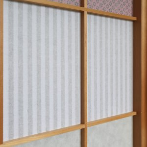折障子紙 縞文様(一段貼り) 大直 ONAO(ネコポス可) |on-washi