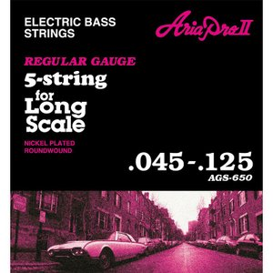 ARIA ( アリア ) AGS-650 (Long Scale) 5弦用ベース弦
