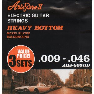 ARIA ( アリア ) AGS-803HB (Heavy Bottom / 3セットパック) エレキギター弦