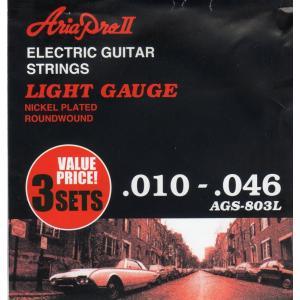 ARIA ( アリア ) AGS-803L (Light / 3セットパック) エレキギター弦