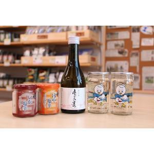 シーパルちゃんカップ、あたごのまつ純米吟醸と塩辛セット|onagawa-again
