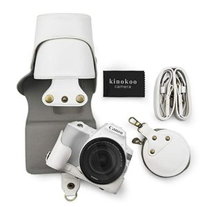 kinokoo Canon EOS KISS X9/ EOS KISS X10専用カメラケース カメラバッグ 18-55 mm レンズ 対応 once20200619