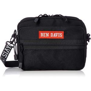ベン デイビスショルダーバッグ BOXロゴテープ ショルダー ブラック×レッド once20200619