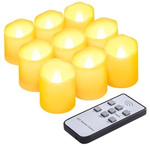 AMIR キャンドルライト LED キャンドル 電気 ろうそく 揺らぐ炎 波形の口 無香料 明るさ調節 タイマー機能付き リモコン対応 点滅|once20200619