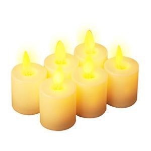 LEDキャンドル 6個セット 電池式蝋燭|once20200619