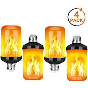 フレームランプ 電球 E27 キャンドルライト led電球 蝋燭ロウソク 揺らぐ炎 装飾 省エネ4モードイルミネーション 濃い電球色|once20200619