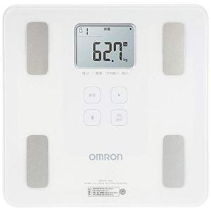 オムロン 体重・体組成計 カラダスキャン スマホアプリ/OMRON connect対応 シャイニーホワイト HBF-230T-SW|once20200619