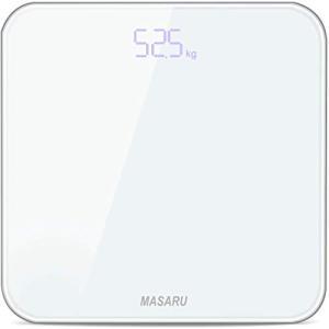 MASARU ヘルスメーター 体重計 デジタル 乗るだけ 電源自動ON/OFF バックライト付 180kgまで対応 高精度 ボディスケール(|once20200619