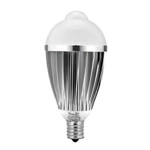 センサー電球 Vorally LED電球 E17 白光 光と人感センサー 7W 630LM 50W相当 明るい 着けっぱなし防止 自動点灯消|once20200619