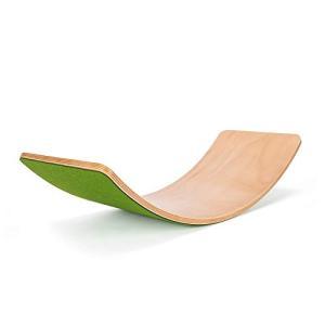Mitudou工房 木製バランスボード 滑り止め 踏み台 ダイエット 子供向け スピン ロック スライド 乗用玩具 アウトドア 室内練習 ダ|once20200619