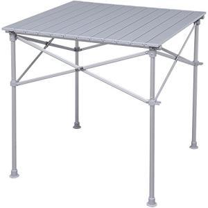 アイリスプラザ ロールテーブル アウトドア 幅70×奥行70×高さ70cm|once20200619