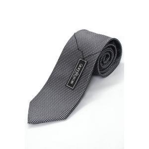 Gianni RosaBi■チャコールグレー格子織りネクタイ ネコポス|oncomshop