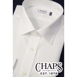 CHAPS チャップス 長袖 ワイシャツ 綿100% 形態安定加工 ホワイト oncomshop