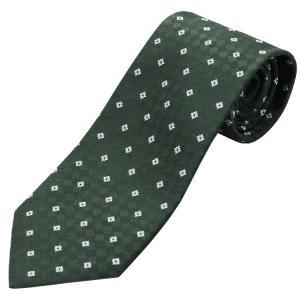 ネクタイ ビジネス ドット 市松 花 緑 シルク 西陣織 ネコポス|oncomshop