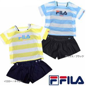 スクール水着 女子 FILA(フィラ) セパレート タンキニ Tシャツ付き スイムウェア fo-120-683【処分品】|one-clothing