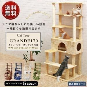 キャットタワー 据え置き 全高 170cm シニア 運動不足 猫ちゃん GRANDE170 組み立て 設置 簡単 爪とぎ 部屋 スクラッチ 猫 ねこ 送料無料