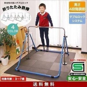鉄棒 耐荷重80kg 折りたたみ 製品安全協会SGマーク 室内 子供 逆上がり キッズ 折り畳み 補...