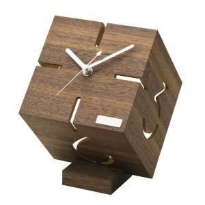 スタンドクロック(ウォールナット) 時計 卓上|oneesan