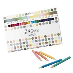 24色カラーペンシル いろえんぴつ ステーショナリー 事務用品 色鉛筆 文具 文房具 oneesan