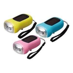 ソーラー&ダイナモパワーLEDライト  LED ソーラー式 ライト 懐中電灯・携帯ライト 緊急時 非常時 防災 防災グッズ 防犯 防犯グッズ|oneesan