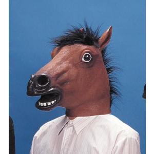 アニマルマスク・アラブ馬 かぶりもの コスチューム コスプレ ジョーク パーティーグッズ 衣装 宴会 動物ヘッド oneesan