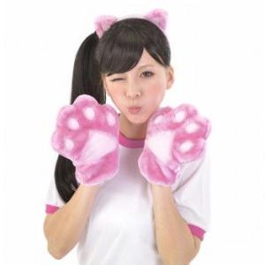 カラフルにゃんこセット ピンク コスチューム コスプレ ねこ耳 ネコ耳カチューシャ ももいろクローバー風 ももクロ風 衣装 仮装 猫耳 oneesan