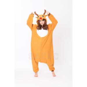 トナカイ GO フリース着ぐるみ クリスマス コスチューム コスプレ 衣装 宴会 仮装|oneesan