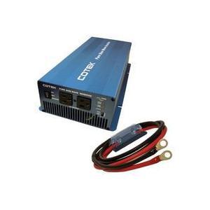 COTEK 正弦波インバーター/DC-ACインバーター SK1500-124(出力1500W/電圧24V)+保護用ヒューズ付きケーブルセット 端子圧着済 onegain