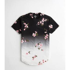 ホリスター  Tシャツ メンズ  半袖 ピンク  タイダイ柄...