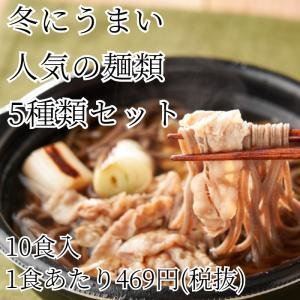 冷凍 惣菜 10食入 冬にうまい人気の麺類5種類セットの画像