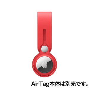 Apple AirTagレザーループ - (PRODUCT)RED / MK0V3FE/A onemorething