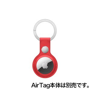 Apple AirTagレザーキーリング - (PRODUCT)RED / MK103FE/A onemorething