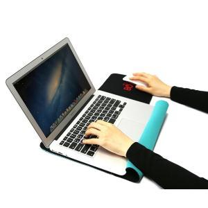 130マックブックケース 13インチ用 ミント/ブルー マウスパッド一体型 おしゃれ Macbook ケース ノートパソコンケース デザイン おすすめ...