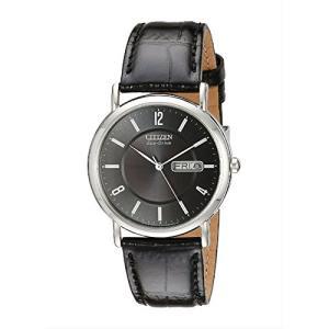 Citizen シチズン BM8240-03E メンズ ウォッチ エコドライブ Eco-Drive Black Leather Watch 腕時計 ブラック|oneofakind